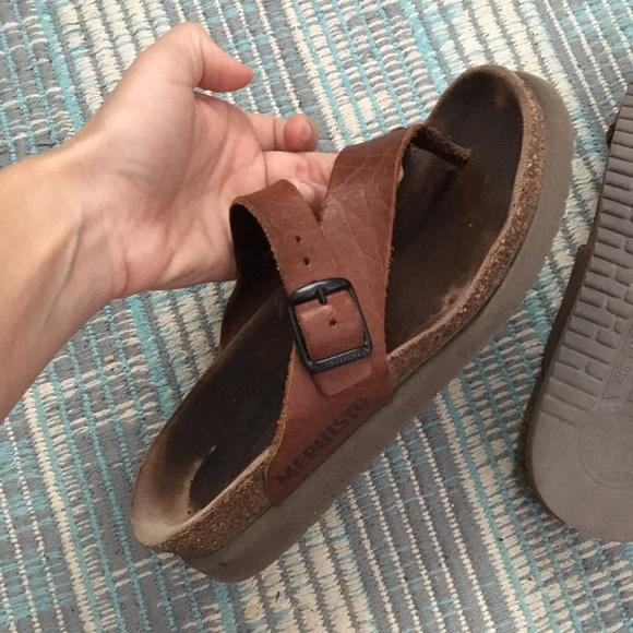 9cfa9fcee71f6 Mephisto brown leather sandals sz 35. M_5afc584d36b9de12f4baac7b